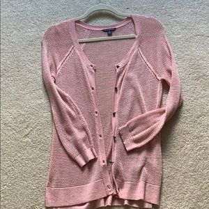 American Eagle Lightweight Pink Cardigan
